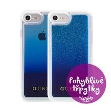 Kryt GUESS Degrade Blue pro Apple iPhone 6 / 6S / 7 - plastový - glitter / modré třpytky