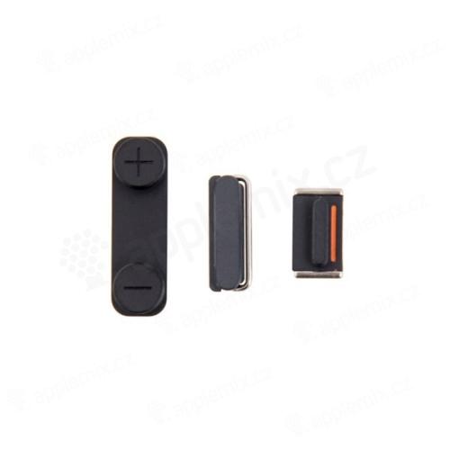 Sada postranních tlačítek / tlačítka pro Apple iPhone 5 (Power + Volume + Mute) - černá