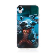 Kryt MARVEL pro Apple iPhone Xr - Strážci Galaxie - Rocket - gumový