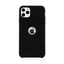 Kryt pro Apple iPhone 11 Pro Max - gumový - příjemný na dotek - s výřezem pro logo - černý
