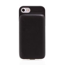 Externí baterie / kryt HOCO pro Apple iPhone 6 / 6S / 7 - 3000 mAh - proužkovaný - černý