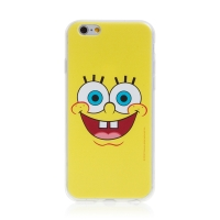 Kryt Sponge Bob pro Apple iPhone 6 / 6S - gumový - vysmátý Sponge Bob