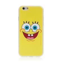 Kryt Sponge Bob pro Apple iPhone - gumový - vysmátý Sponge Bob