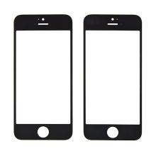 Náhradní přední sklo pro Apple iPhone 5 / 5C / 5S / SE - černý rámeček