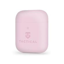 Pouzdro / obal TACTICAL pro Apple AirPods - příjemné na dotek - silikonové - růžové
