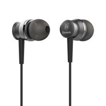 Sluchátka Baseus pro Apple zařízení - špunty - ovládání + mikrofon - kov / guma