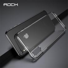 Kryt ROCK pro Apple iPhone Xs Max - gumový - plastový - průhledný