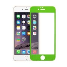 Super odolné tvrzené sklo (Tempered Glass) na přední část Apple iPhone 6 Plus / 6S Plus (tl. 0.3mm) - zelený rámeček