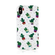 Kryt pro Apple iPhone X / Xs - gumový - kaktusy