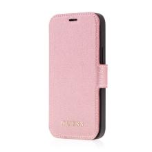 Pouzdro GUESS IriDescent Book pro Apple iPhone 12 mini - umělá kůže - Rose Gold růžové