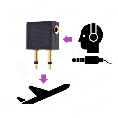 Redukce pro vlastní sluchátka do letadla (v případě dvou výstupů)