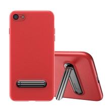 Kryt BASEUS pro Apple iPhone 7 / 8 - stojánek - gumový - červený