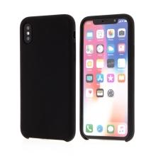 Kryt pro Apple iPhone X - gumový - příjemný na dotek - černý