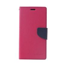 Pouzdro Mercury Fancy Diary pro Apple iPhone Xs Max - stojánek a prostor pro doklady - růžové / modré