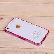 Ochranný ultra tenký hliníkový rámeček / bumper LOVE MEI (tl. 0,7 mm) pro Apple iPhone 4 / 4S - růžový
