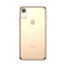 Kryt BASEUS pro Apple iPhone Xr - gumový - průhledný / zlatý