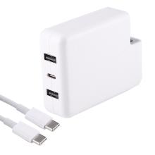 61 / 87W USB-C EU napájecí adaptér / nabíječka pro Apple Macbook + 2x USB-A + kabel USB-C - kvalita A