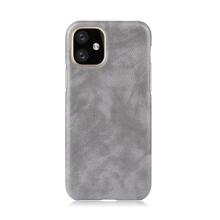 Kryt pro Apple iPhone XI Max - plastový / umělá kůže - šedý