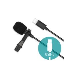 Mikrofon XO pro Apple iPad / Mac - externí - klipový - USB-C - černý