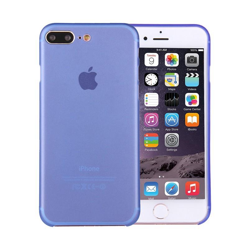 Kryt / obal pro Apple iPhone 7 Plus / 8 Plus chrana čočky - plastový / tenký - modrý
