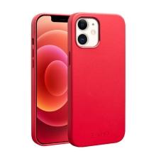 Kryt QIALINO pro Apple iPhone 12 / 12 Pro - kožený - červený