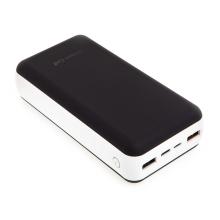 Externí baterie / power bank GREENCELL - 30000 mAh - 2x USB + USB-C - černá / bílá