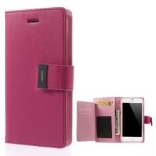 Vyklápěcí pouzdro - peněženka Mercury pro Apple iPhone 6 / 6S - s prostorem pro umístění platebních karet - růžové