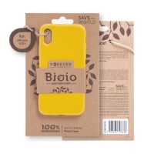 Kryt FOREVER BIOIO - pro Apple iPhone X / Xs - Zero Waste kompostovatelný kryt - žlutý