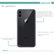 Tvrzené sklo (Tempered Glass) NILLKIN pro Apple iPhone X - na zadní část - 2,5D hrana - čiré - 0,3mm