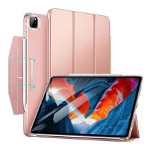 """Pouzdro ESR pro Apple iPad Pro 12,9"""" (2020 / 2021) - umělá kůže - magnetické uchycení - růžové"""