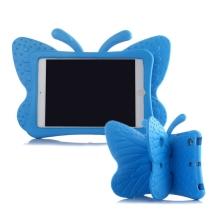 Pouzdro pro děti pro Apple iPad mini 1 / 2 / 3 - 3D motýl - stojánek - pěnové - modré