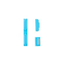 Sada postranních tlačítek / tlačítka pro Apple iPhone 5C (Power + Volume + Mute) - modrá - kvalita A+