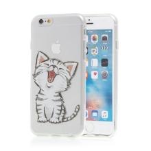Kryt pro Apple iPhone 6 / 6S - gumový - kotě - průhledný