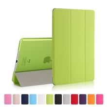 Pouzdro / kryt pro Apple iPad 9,7 (2017-2018) - funkce chytrého uspání + stojánek - zelené / průsvitné zelené
