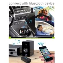 Adaptér bluetooth 3.0 AUX audio 3.5mm jack - bezdrátový hudební přijímač / handsfree - černý