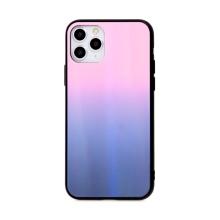 Kryt pro Apple iPhone 11 Pro Max - sklo / guma - růžový / černý