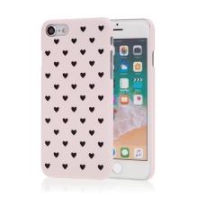 Kryt pro Apple iPhone 7 / 8 - plastový - srdíčka - růžový
