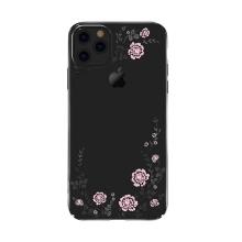 Kryt KAVARO pro Apple iPhone 11 Pro  s kamínky - plastový - růže - černý