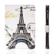 Pouzdro pro Apple iPad mini / mini 2 / mini 3 - stojánek, funkce chytrého uspání a prostor na doklady - Eiffelovka