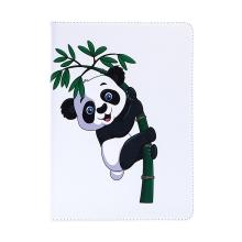 Pouzdro pro Apple iPad 9,7 (2017-2018) - stojánek + prostor pro platební karty - panda na větvi