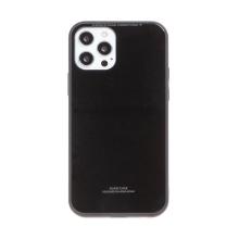 Kryt FORCELL Glass pro Apple iPhone 12 / 12 Pro - gumový / skleněný