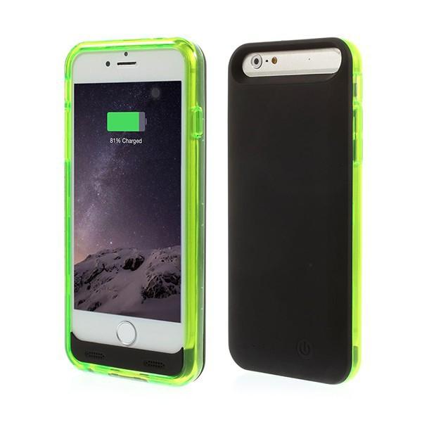 iFans baterie externí s krytem pro Apple iPhone 6 / 6S 3100mAh MFi certifikovaná - černá / zelená