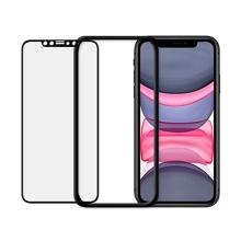 Tvrzené sklo (Tempered Glass) ODZU pro Apple iPhone Xr / 11 - přední - černý rámeček - 2,5D - 0,3mm