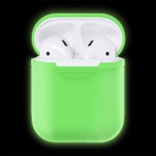 Pouzdro / obal pro Apple AirPods - silikonové - svíticí ve tmě - bílé
