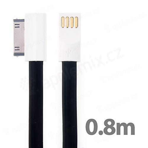 Synchronizační a nabíjecí USB kabel s 30pin konektorem pro Apple iPhone / iPad / iPod - černý