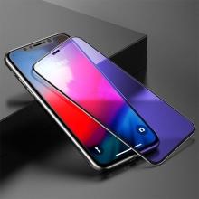 Tvrzené sklo (Tempered Glass) BASEUS pro Apple iPhone Xr - na přední část - anti-blue-ray - černý rámeček - 0,3mm