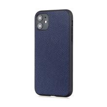 Kryt pro Apple iPhone 12 / 12 Pro - plastový / umělá kůže - tmavě modrý