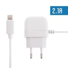 Nabíječka / adaptér (2.1A) + Lightning kabel 1,2m - bílá