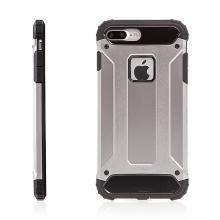 Kryt pro Apple iPhone 7 Plus / 8 Plus plasto-gumový / antiprachová záslepka - šedý