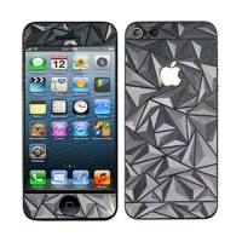 3D ochranná fólie pro Apple iPhone 5 / 5C - se vzorem prostorových trojúhelníků (přední + zadní)
